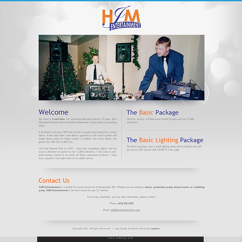 Entertainment Website Design Web Development From 169 By Expert Web Designers Of Logoinn Com Visit Our Online Website Design Gallery Page 1